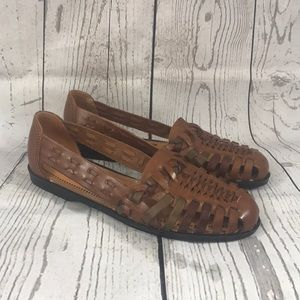 Predictions Leather Collection Sandal Flats 7